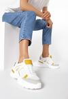 Biało-Żółte Sneakersy Molmellia