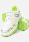 Biało-Limonkowe Sneakersy Foggyvine