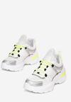 Biało-Limonkowe Sneakersy Whitfall