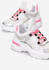 Biało-Fuksjowe Sneakersy Whitfall