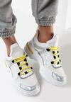Biało-Żółte Sneakersy Whitfall
