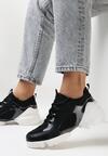 Czarne Sneakersy Bathaphaura