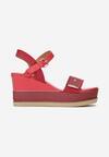 Czerwone Sandały Amalikea