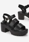 Czarne Sandały Phimoni