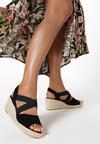 Czarne Sandały Pisirei
