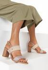 Beżowe Sandały Salonise