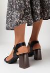 Czarne Sandały Sherene