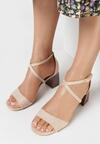 Beżowe Sandały Sherina