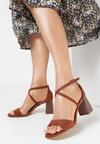 Brązowe Sandały Sherina