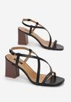 Czarne Sandały Charelia