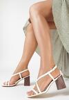 Białe Sandały Charelia