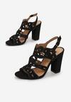 Czarne Sandały Delalise