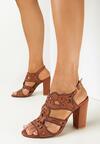 Brązowe Sandały Delalise