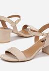 Jasnobeżowe Sandały Aquille