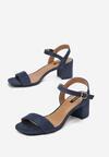 Granatowe Sandały Aquille