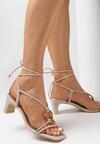 Jasnobeżowe Sandały Avameda