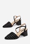 Czarne Sandały Diafer