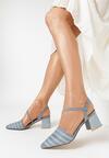 Niebieskie Sandały Diafer