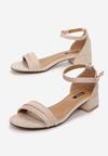 Jasnobeżowe Sandały Rhaemene