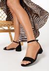 Czarne Sandały Rhaemene