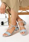 Niebieskie Sandały Moldelia