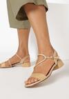 Beżowe Sandały Moldelia