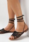 Czarne Sandały Nephelea