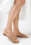 Beżowe Sandały Halishi