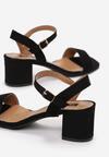 Czarne Sandały Aquille