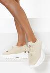 Beżowe Sneakersy Amaliteia
