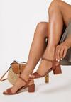 Brązowe Sandały Aquille