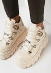 Beżowe Sneakersy Ilathylia