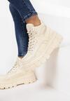 Beżowe Sneakersy Coraenia