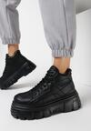 Czarne Sneakersy Coraenia