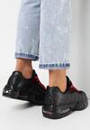 Czarno-Czerwone Buty Sportowe Caliseise