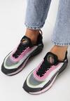 Czarno-Różowe Buty Sportowe Corisesis