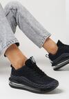 Czarno-Białe Buty Sportowe Fysernila