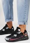 Czarno-Białe Buty Sportowe Nymerris