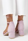 Liliowe Sandały Loreria