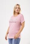 Różowy T-shirt Famously