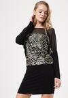Czarno-Złota Sukienka Materialize
