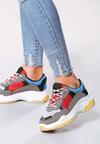 Ciemnoszaro-Czerwone Sneakersy Boomerang