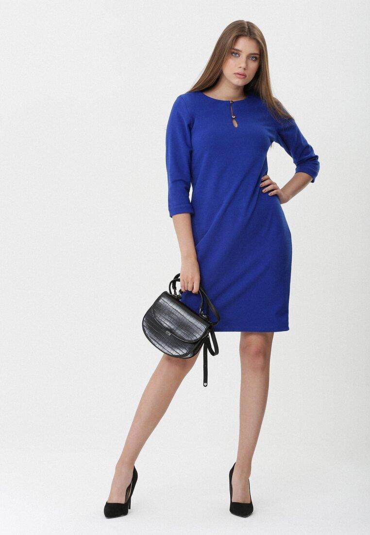 Ciemnoniebieska Sukienka Salome