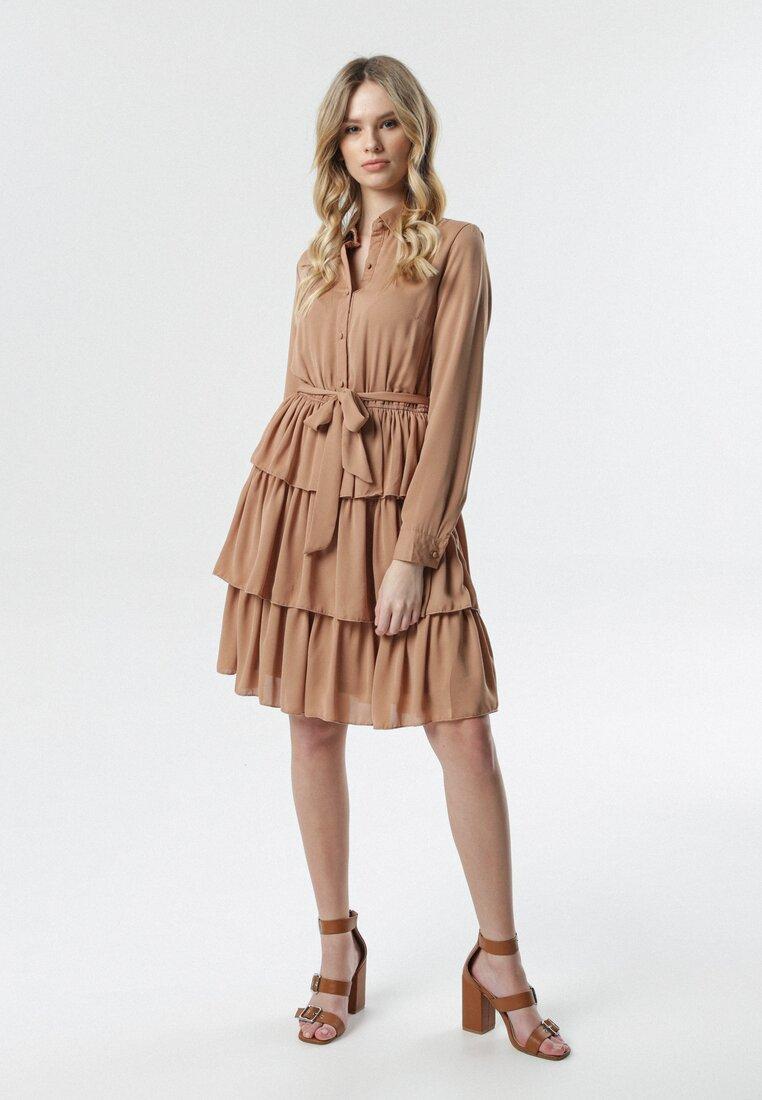 Ciemnobeżowa Sukienka Greene
