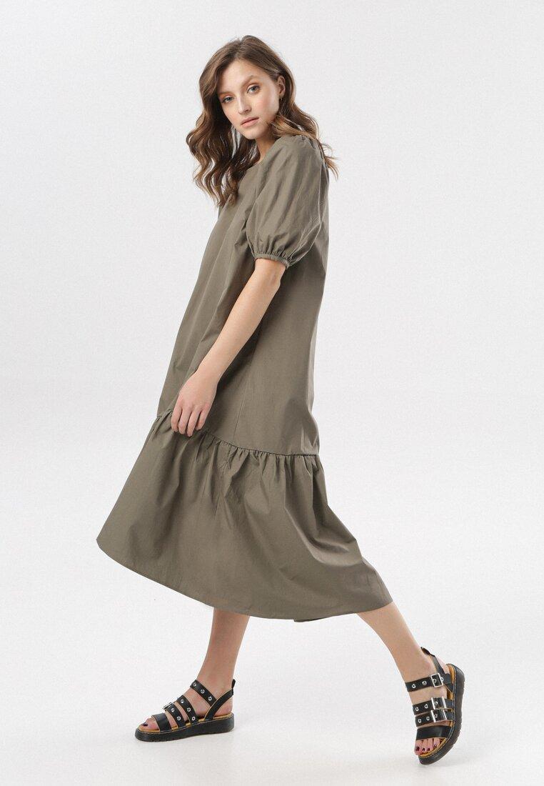Ciemnozielona Sukienka Petal