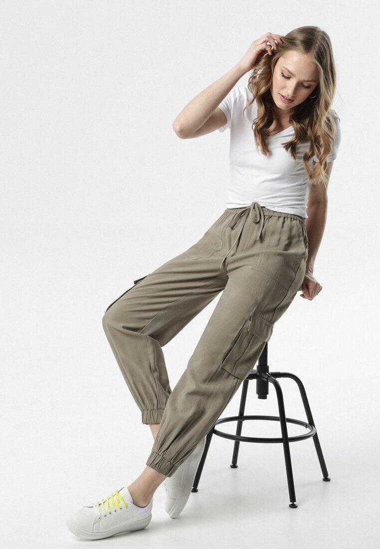 Ciemnozielone Spodnie Pontoreisa