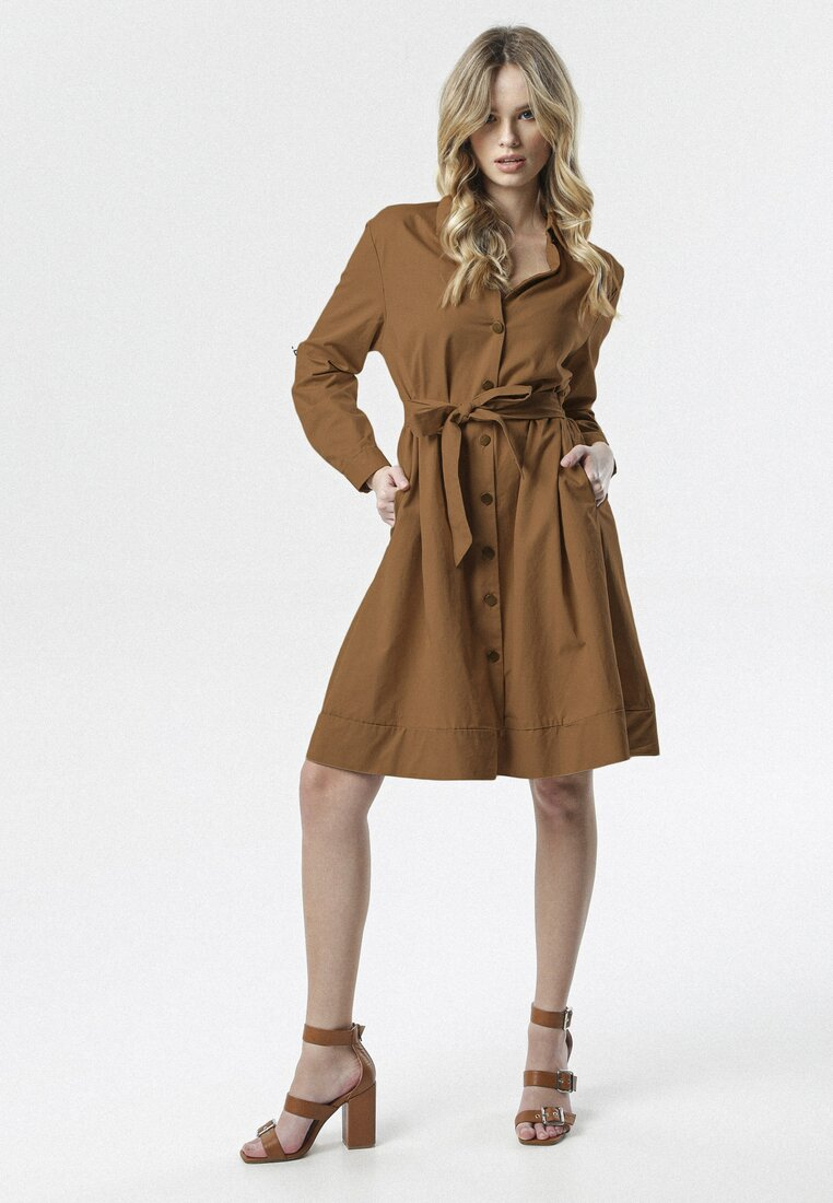 Brązowa Sukienka Sanah