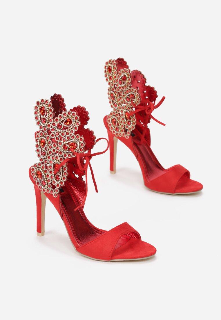 Czerwone Sandały Lovely Kiss