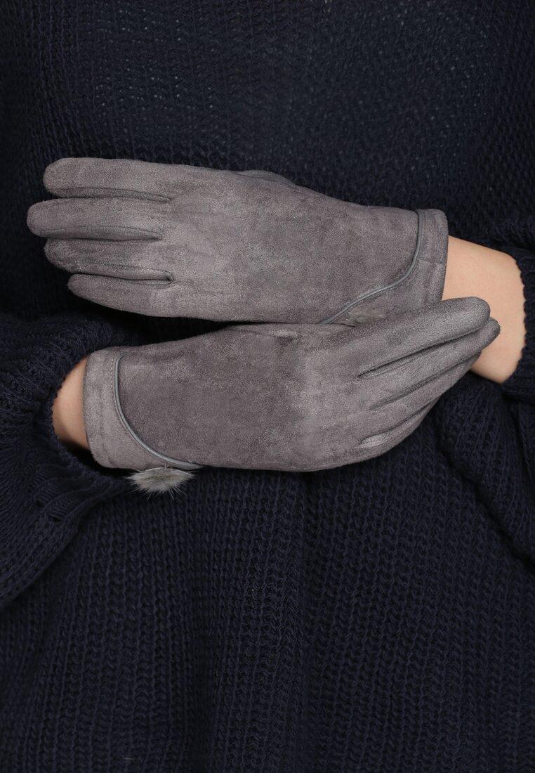 Szare Rękawiczki Shammy