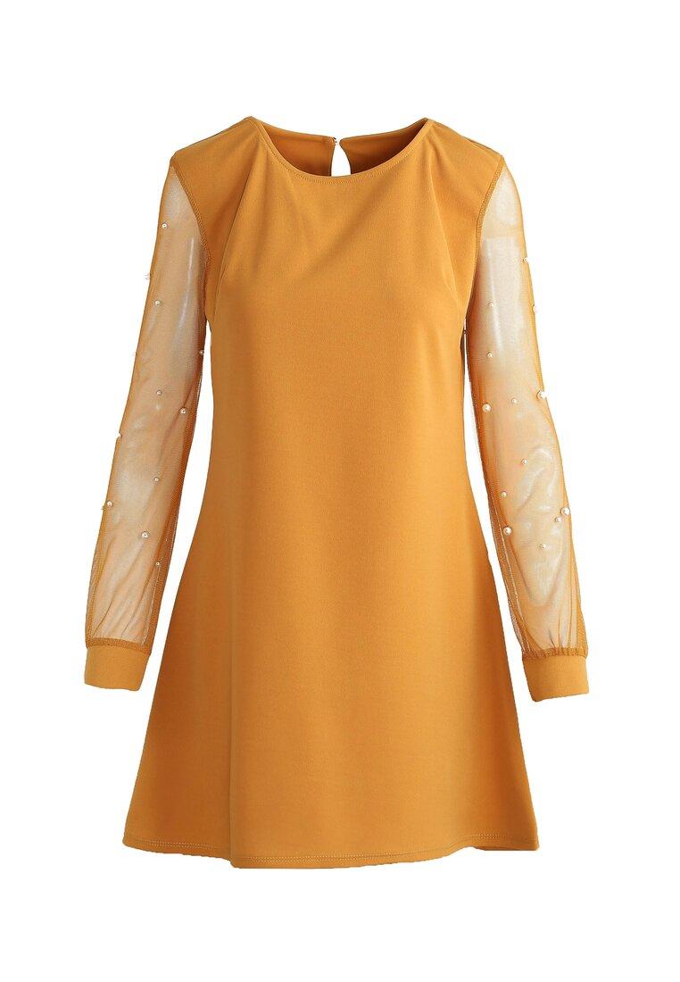 Musztardowa Sukienka Little Elements